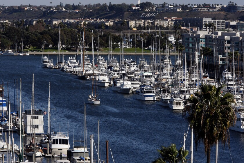 Marina del Rey, home to more than 4,500 recreational boats, turns 50 this year. The area plans a birthday bash this weekend with tall ships and other events.
