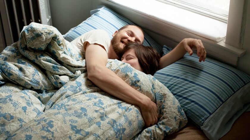 Happy Couple Cuddling in Bed ** OUTS - ELSENT and FPG - OUTS * NM, PH, VA if sourced by CT, LA or Mo