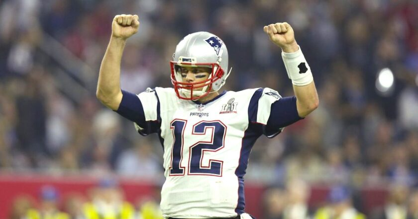 Tom Brady, QB de los New England Patriots, en el Super Bowl 51 ante los Atlanta Falcons, en Houston.