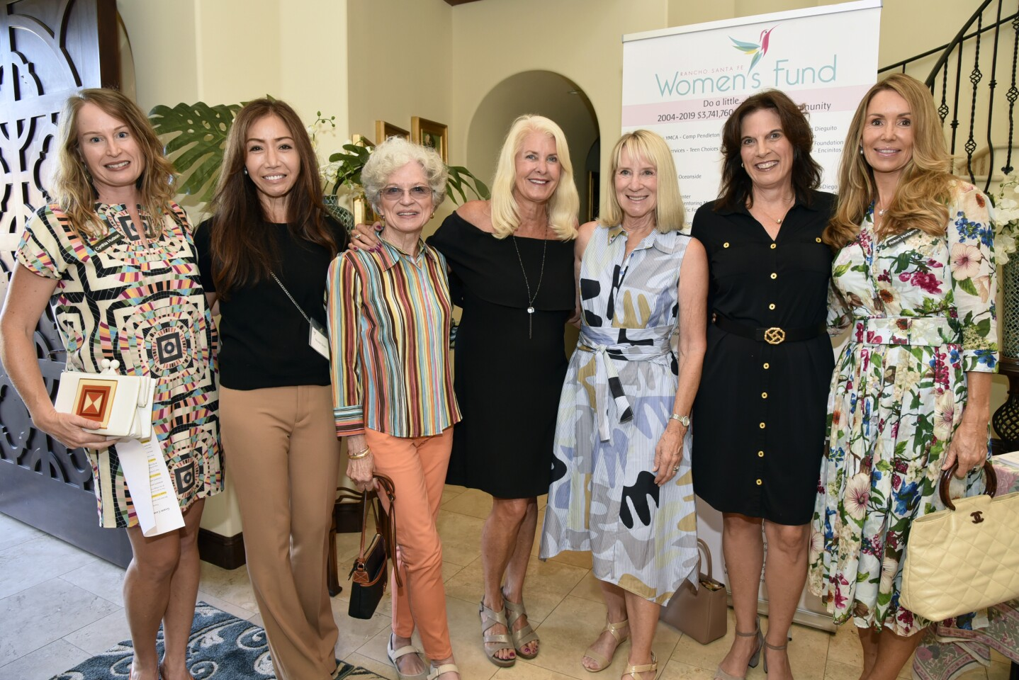 Cynthia Hudson, Nicole Smith, Gail Kendall, Deb Sims, Candace Humber, incoming Grants Chair Mara Buccholz, Past Advisory Chair Robyn Hudgens