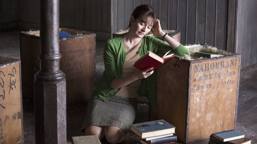 """Emily Mortimer in a scene from """"The Bookshop."""" Credit: Greenwich Entertainment"""