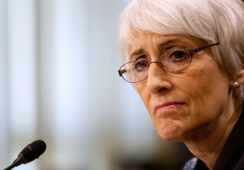Undersecretary of State for Political Affairs Wendy Sherman testifies on Capitol Hill in Washington on Oct. 3.