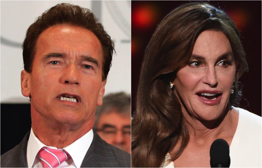 Photos of Arnold Schwarzenegger and Caitlyn Jenner