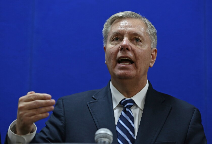 Sen. Lindsey Graham (R-S.C.) drew a connection between the crisis in Ukraine and the 2012 attack on the U.S. diplomatic mission in Benghazi, Libya.