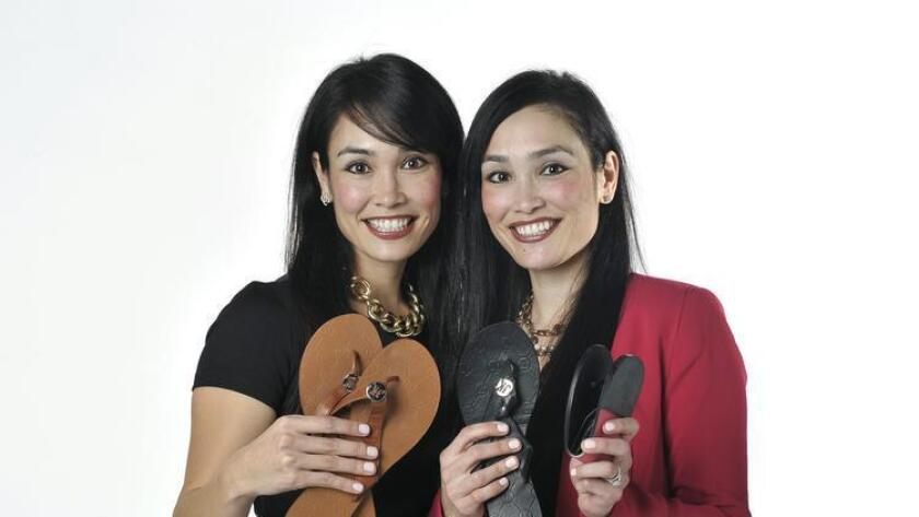 Kristina (left) and Jamie Lee, owners and cofounders of JaK Couture. (Rick Nocon)