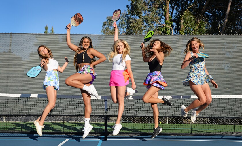 Muffy Walker's Pickled Pink line includes new pickleball skirts.