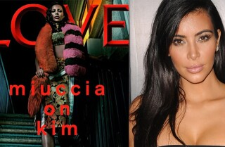 Kim Kardashian looks unrecognizable on LOVE magazine cover