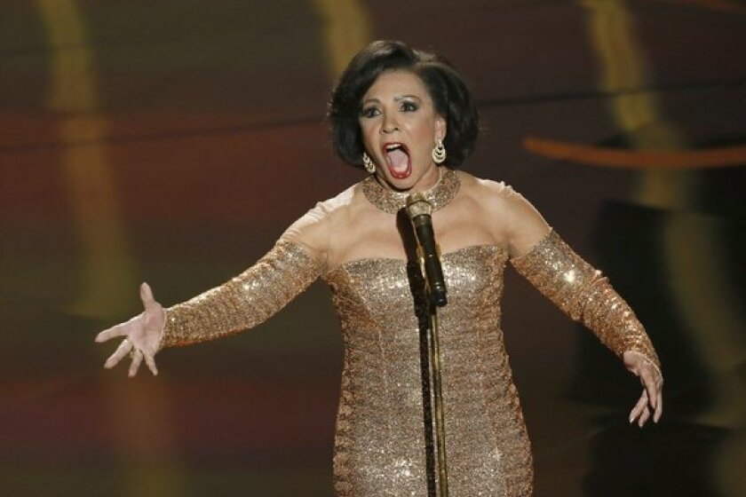 "Shirley Bassey sang and performed ""Goldfinger"" at the Oscars."