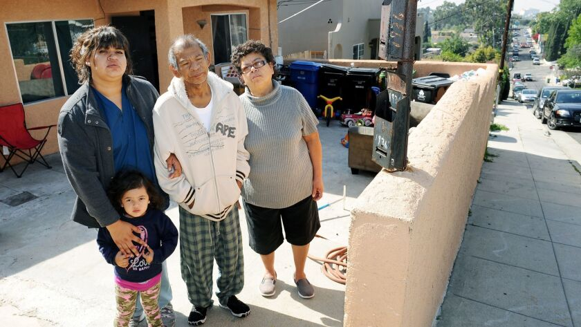 A family in the process of being evicted from their Echo Park home, after 32 years in the neighborhood, on March 15, 2015.