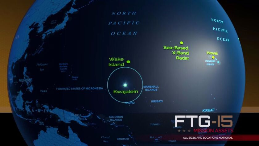 The target missile, launched from Kwajalein Atoll, was closely tracked by radars positioned in advan