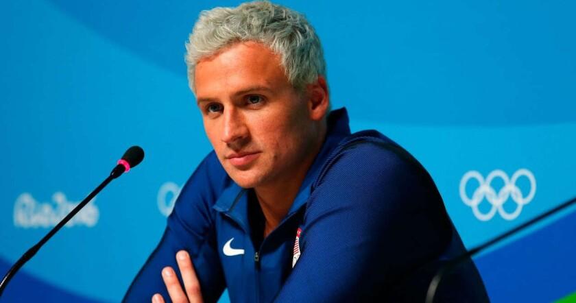 Ryan Lochte, nadador de Estados Unidos.