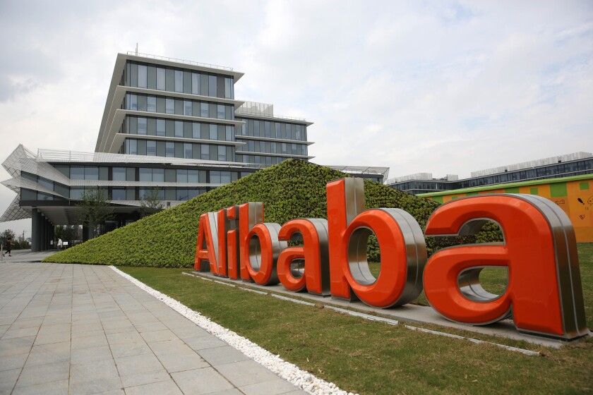 The Alibaba headquarters are seen in Hangzhou, China, on Sept. 23, 2013.
