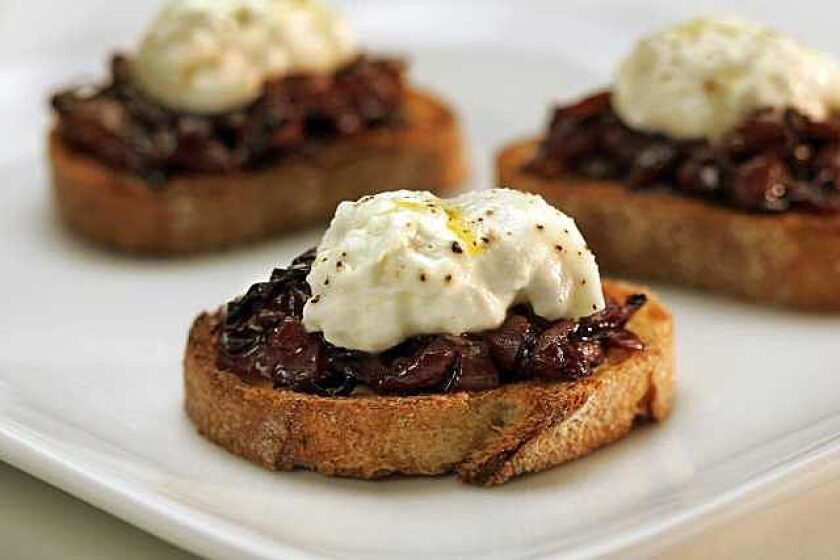Burrata is the perfect topping