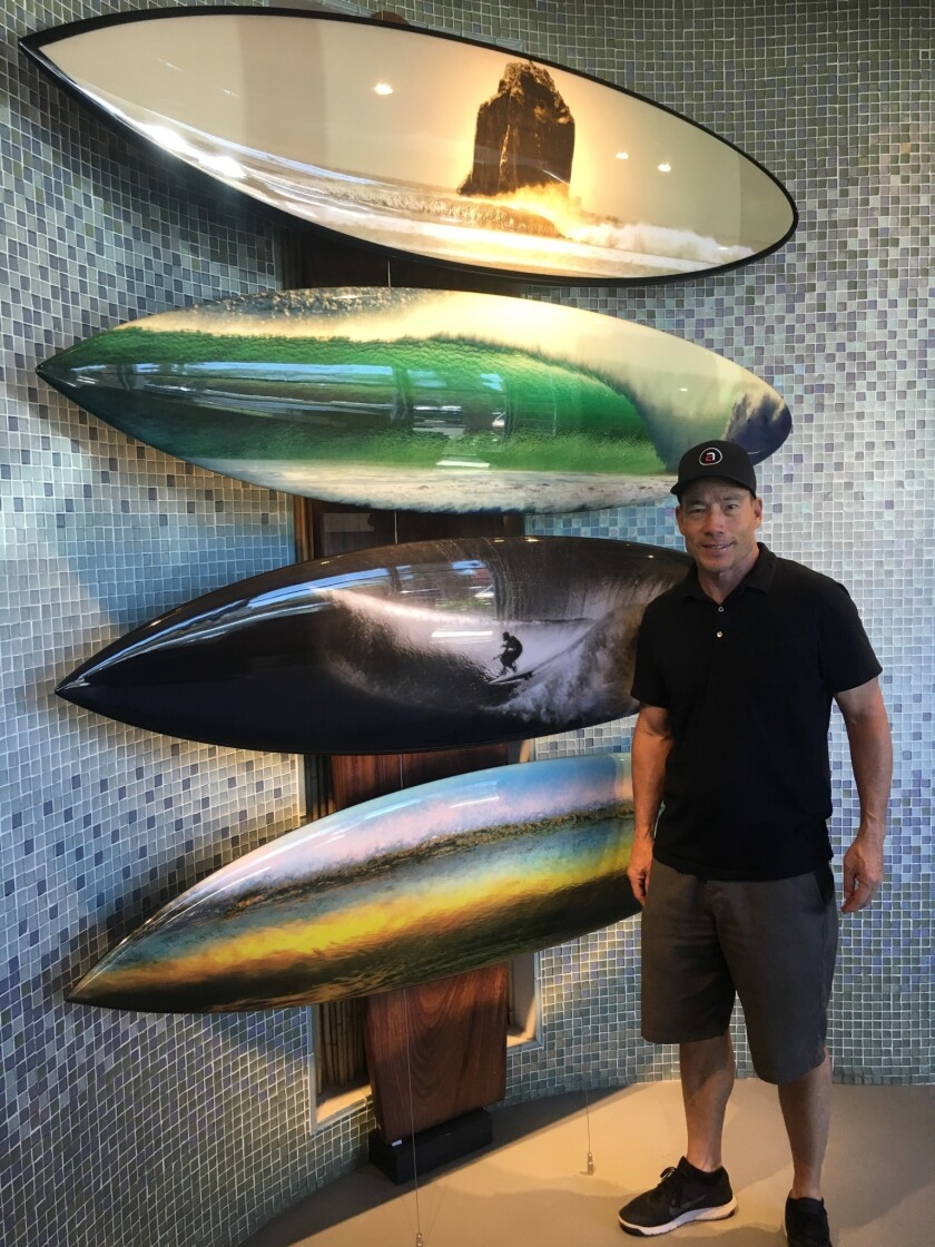 World-renowned photographer Aaron Chang partnered with an Oceanside-based surfboard manufacturer to create these four eco-friendly boards, which were auctioned off last month to benefit the Surfrider Foundation's efforts to clean up the Tijuana River Valley.