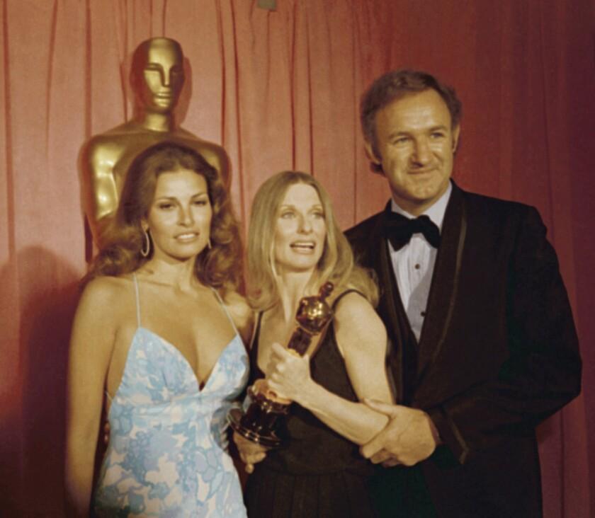 Raquel Welch, Cloris Leachman and Gene Hackman