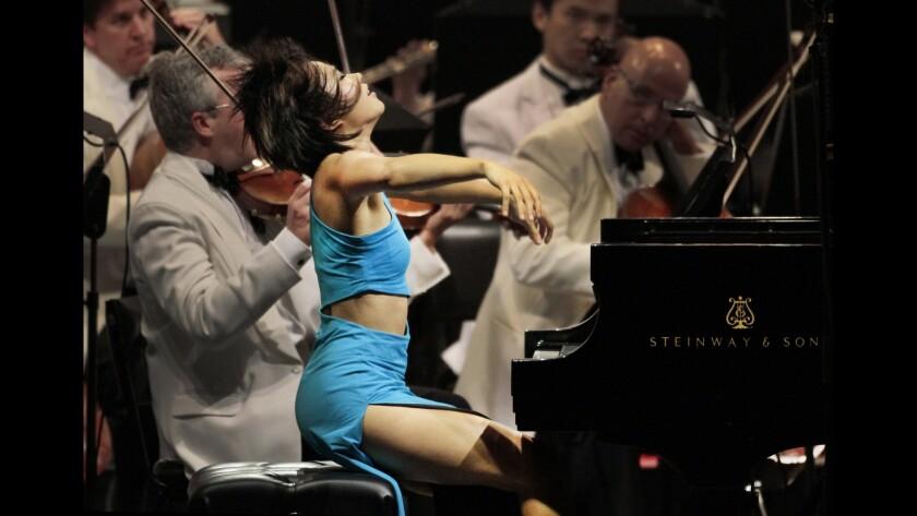 Yuja Wang performs at the Hollywood Bowl in July of 2014.