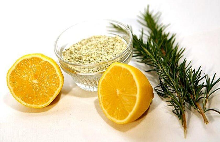 Rosemary-lemon salt