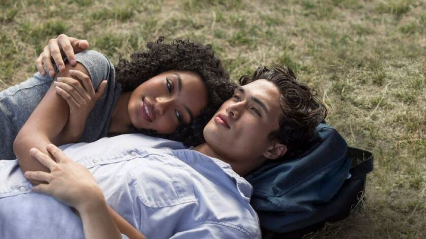 "Natasha (Yara Shahidi) and Daniel (Charles Melton) spend an eventful day together in New York City in ""The Sun Is Also a Star."""