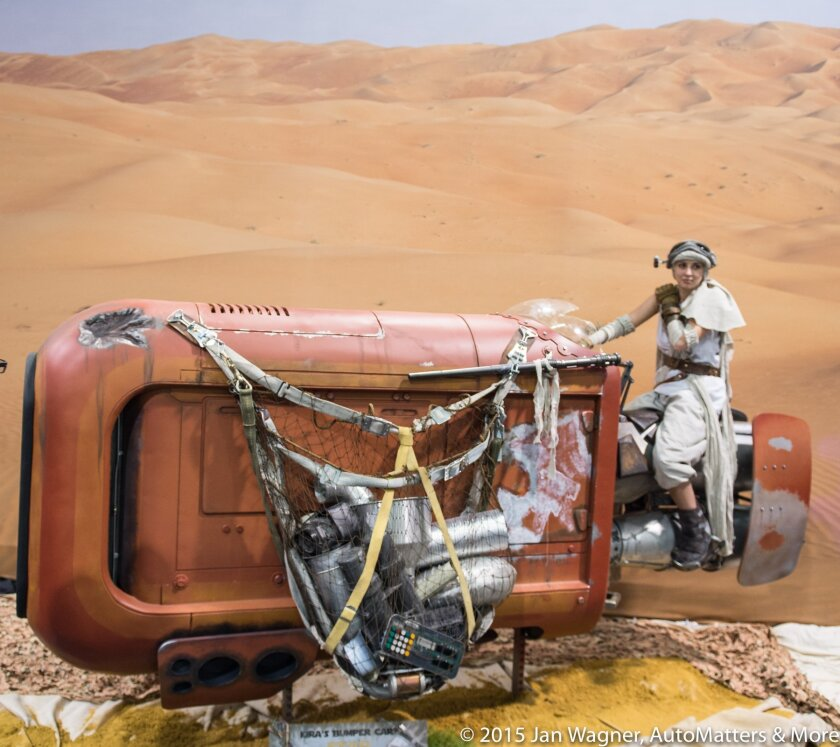 Vehicle from Force Awakens at Star Wars Celebration 2015.