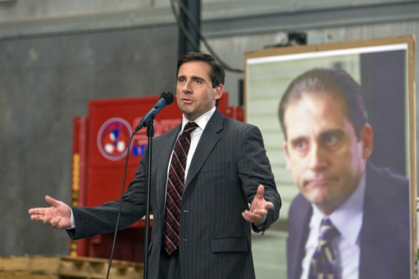 """Steve Carell played the goofball boss, Michael Scott, in NBC's """"The Office."""" The show will be the centerpiece of Peacock, an upcoming streaming service."""