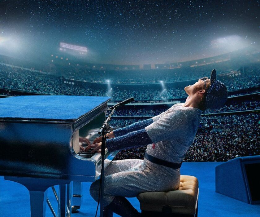 "Taron Egerton as Elton John in ""Rocketman"""