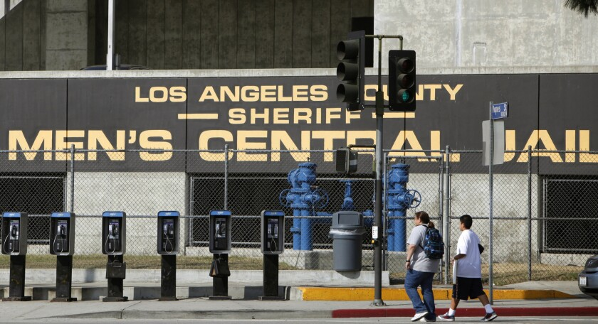 The L.A. County Sheriff's Department's Men's Central Jail facility in Los Angeles is shown. The FBI enlisted Anthony Brown, an inmate in the Men's Central Jail, to collect information on allegedly abusive and corrupt deputies.