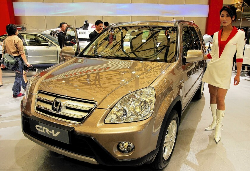 Honda said it would replace air bag inflators on 2 million vehicles, mostly in Florida, Puerto Rico and other regions with high humidity. Above, a Honda CR-V.