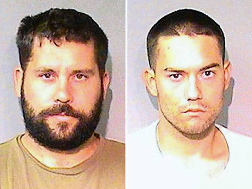 Ryan Balletto, 30, left, and Patrick Pearmain, right, 25, are being held without bail.