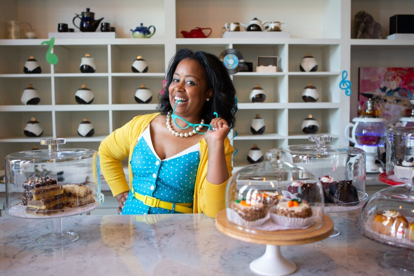 Rushell Gordon, founder and CEO of Oceanside's Bliss Tea & Treats tearoom, will be hosting a Juneteenth celebration Saturday.