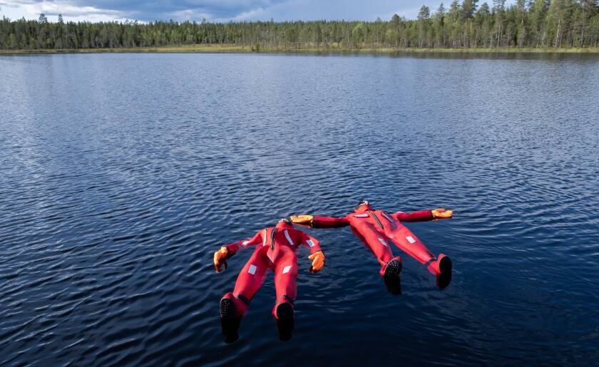 Floating with Safartica in a dry suit feels like a cross between an air mattress and compression blanket.