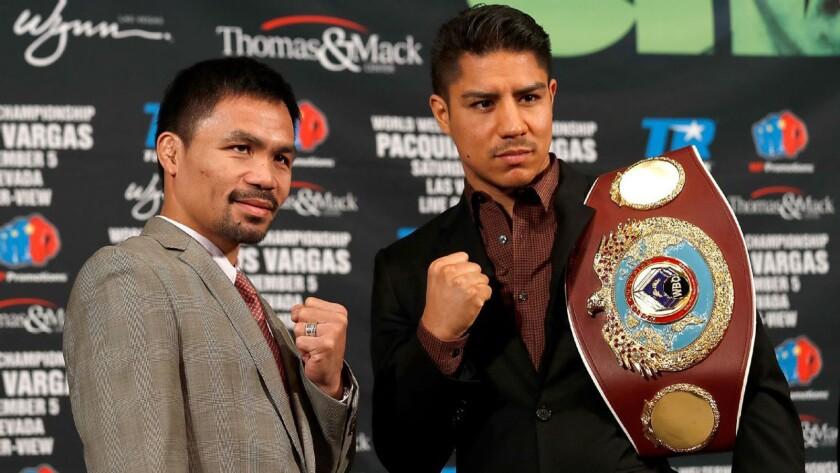 Manny Pacquiao vs Jessie Vargas, rumbo a su choque del 5 de noviembre en Las Vegas.