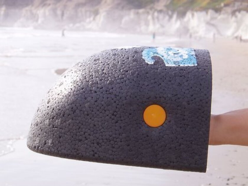 The Surf Grip, a body-surfing accessory made in Southern California, is among the items for sale on MadeInUSAForever.com.