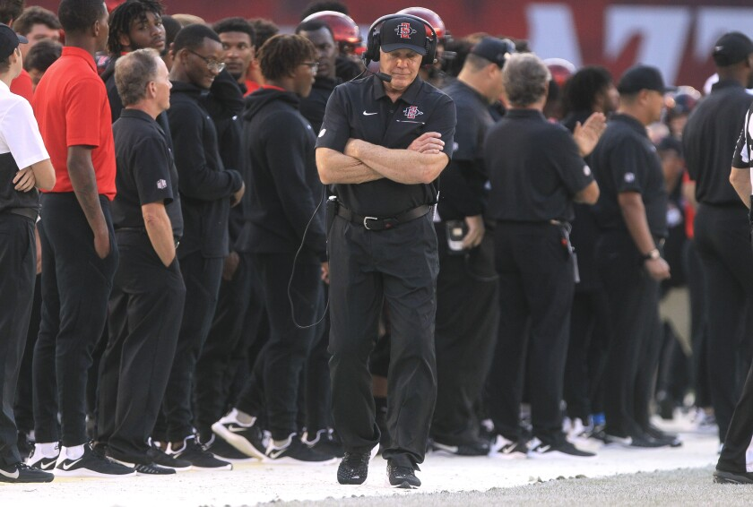 San Diego State head coach Rocky Long and his assistants will be on the sidelines this weekend, but it will be at high school games for recruiting purposes rather than coaching during an SDSU football game.