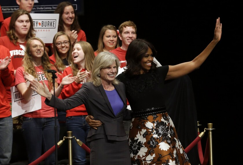 Mary Burke and Michelle Obama