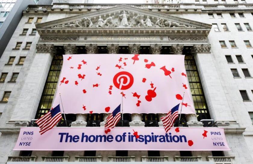 Pinterest sube un 22 % en bolsa, pese a perder un 1.218 % más hasta junio