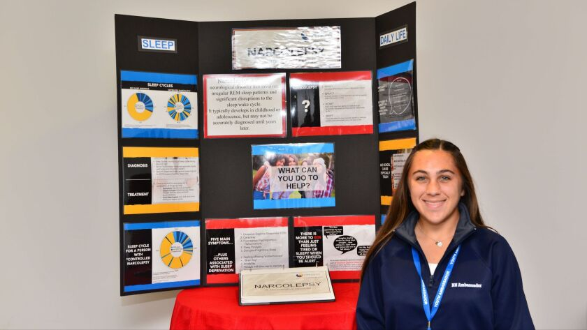 Mackenzie Zorn, 16, of Carlsbad is the Narcolepsy Network Southern California Youth Ambassador.