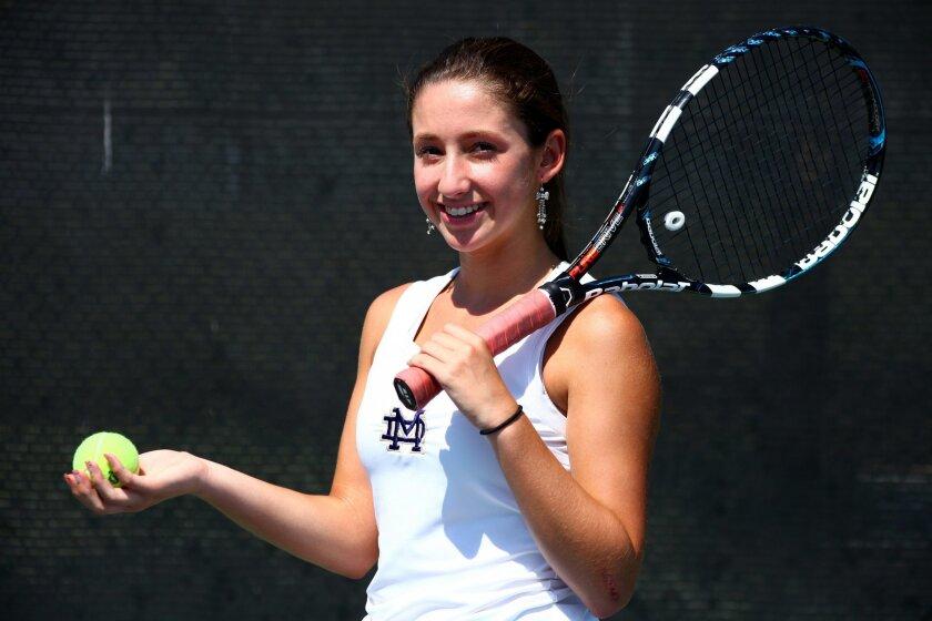 Valeria Corral, a Mater Dei Catholic High sophomore, was 39-1 as a freshman last year.
