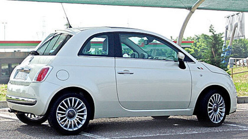 RETRO AND READY: The Fiat 500, reviving the classic look of the postwar Nuova 500, is a car America could really use.
