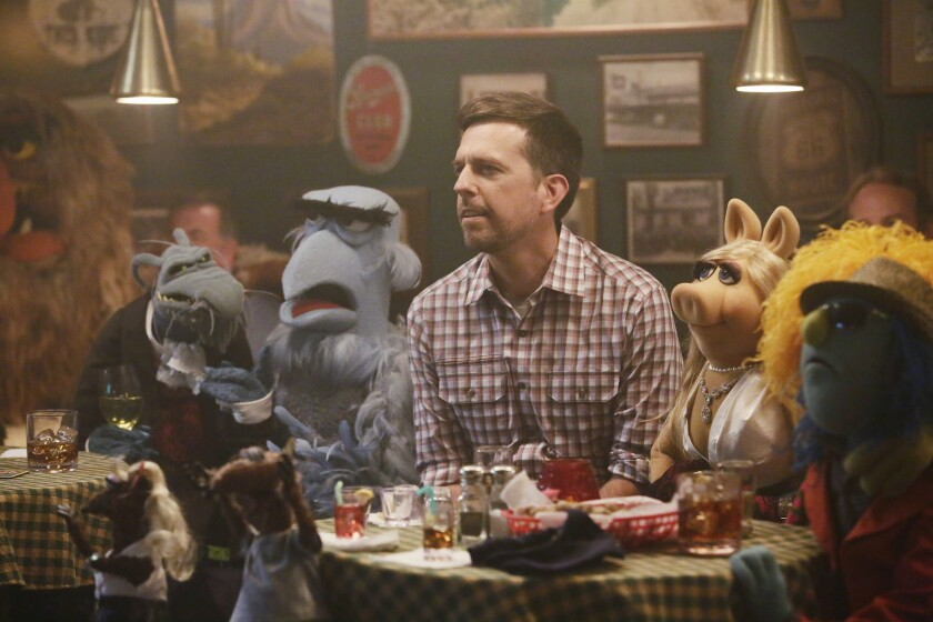 """Ed Helms in """"The Muppets"""" on ABC."""
