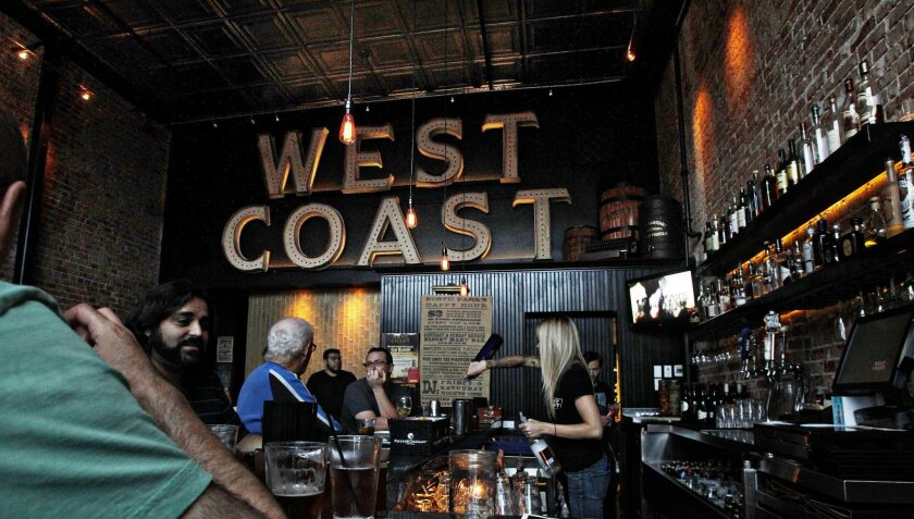 West Coast Tavern in North Park is an example of San Diego's growing number of neighborhood-friendly restaurants.