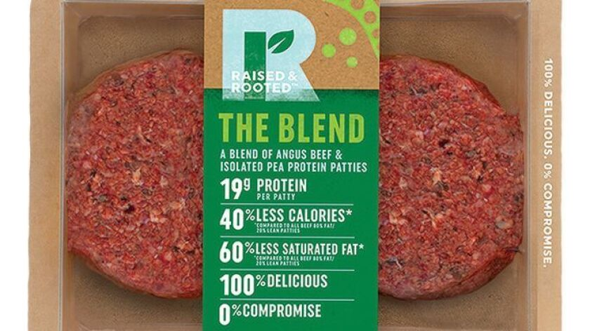 This undated product image provided by Tyson Foods, Inc. shows a plant-based meat alternative made b