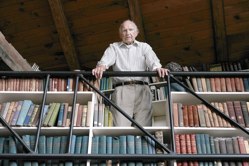 Historian James MacGregor Burns at his home in Williamstown, Mass., in 2007.