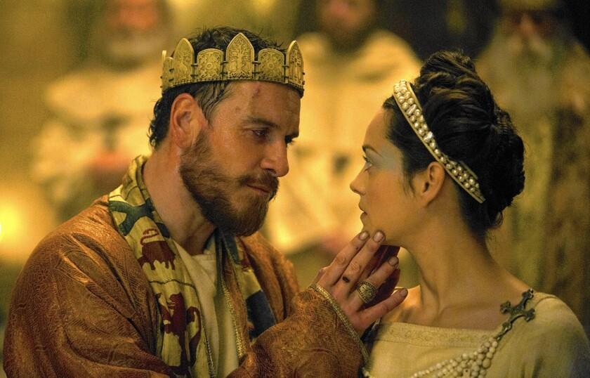 Michael Fassbender and Marion Cotillard in 'Macbeth'