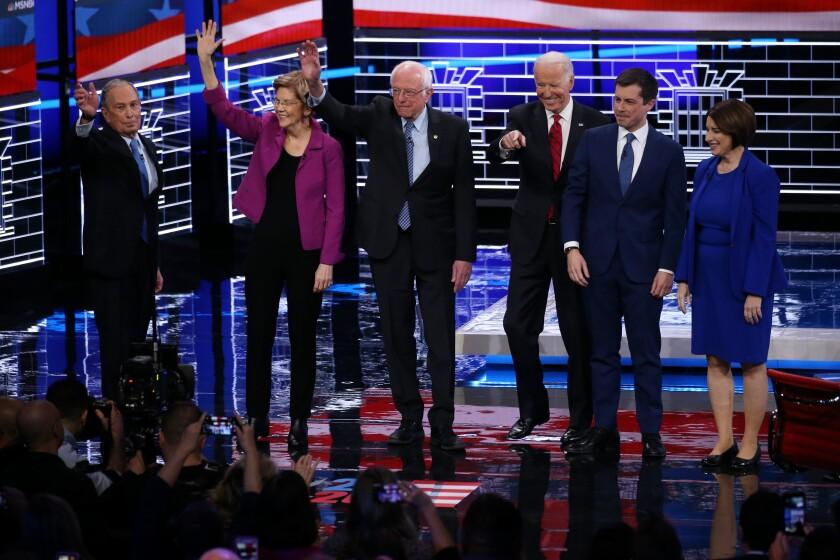 Democratic debate in Las Vegas