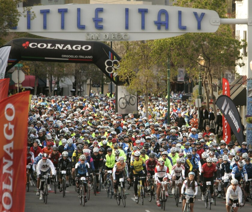 Little Italy, which  has blossomed into a major tourist attraction, saw a long-distance bike race there in March.