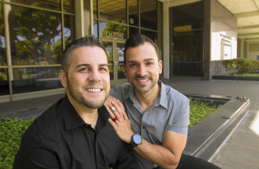 Jeff Zarrillo, left, and Paul Katami were one of two plaintiff couples in the case that ended Prop. 8.
