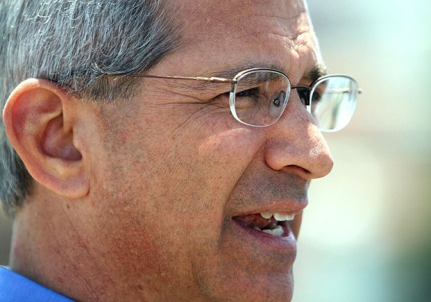 GOP gubernatorial hopeful Steve Poizner appeared in San Ysidro on Monday, May 10, to take a stand on immigration.