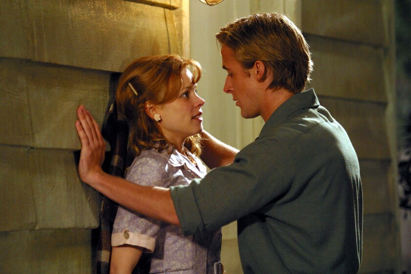 """As Allie and Noah in """"The Notebook,"""" Rachel McAdams and Ryan Gosling made romantic sparks fly. On set, however, the sparks were of a completely different nature, the director reveals."""
