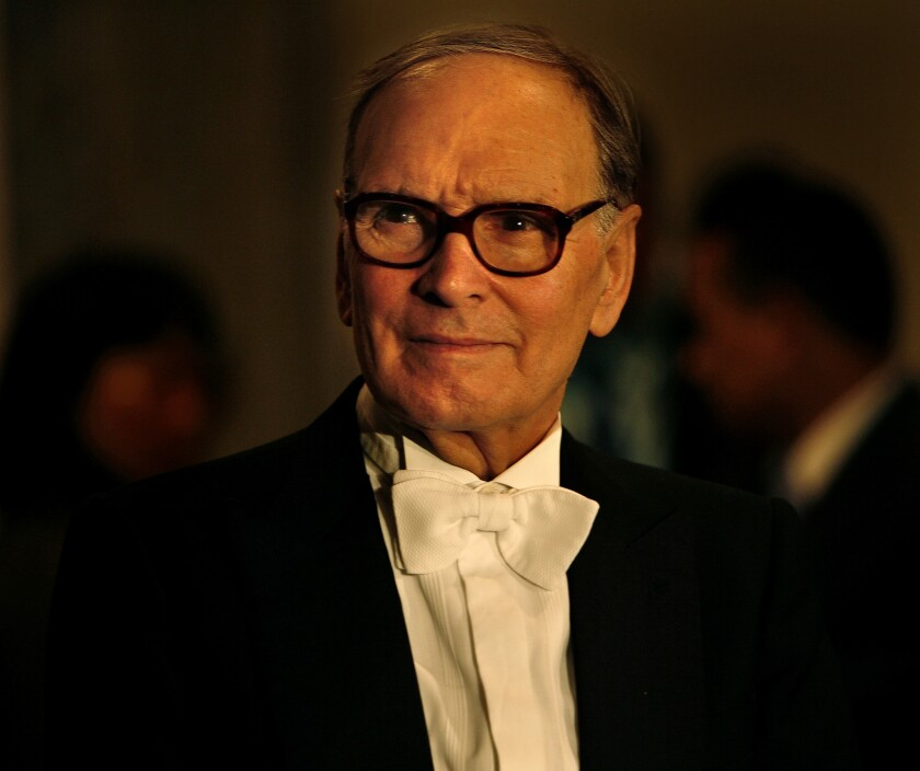 Ennio Morricone has postponed his L.A. and N.Y. concert dates due to an injury.