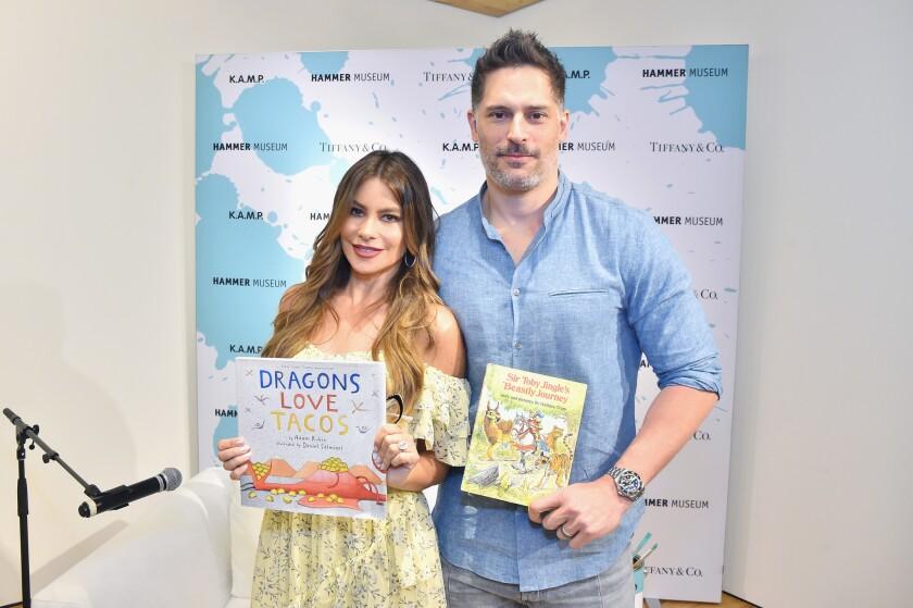 Sofia Vergara and Joe Manganiello at K.A.M.P. on May 19.